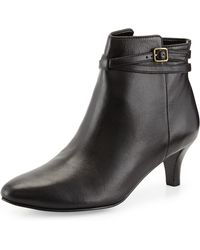 Cole Haan Elinor Leather Short Ankle Boot - Lyst