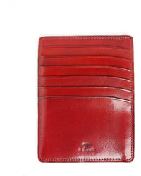 Il Bussetto Chilli Pepper Red Leather Card And Licence Holder - Lyst