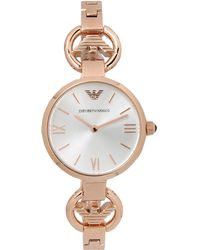 Emporio Armani Pink Wrist Watch - Lyst