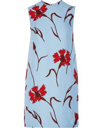 Miu Miu Printed Cady Mini Dress - Lyst