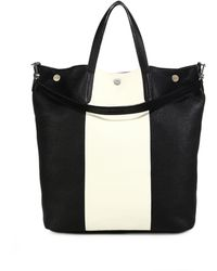 Bally | Striped Leather Tote | Lyst
