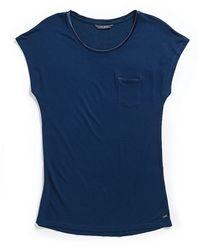 Tommy Hilfiger Round Neck Short Sleeve Top - Lyst
