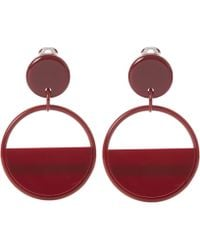 Marni | Large Red Retro Hoop Clip-on Earrings | Lyst