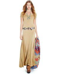Polo Ralph Lauren Cap-Sleeve Maxi Dress - Lyst