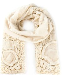 Faliero Sarti Embroidered Lace Scarf - Lyst