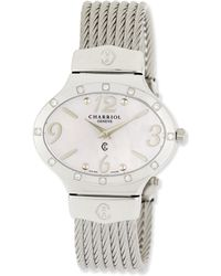 Charriol - Darling Mother-of-pearl & Diamond Micro-cable Bracelet Watch - Lyst