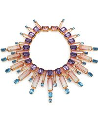 House Of Lavande Oceana Crystal Collar Necklace - Lyst