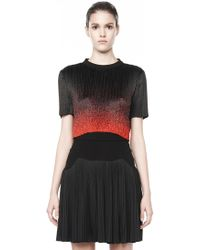 Alexander Wang Micro Pleated Cropped T-Shirt - Lyst