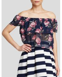 Lucy Paris Blouse - Printed Off The Shoulder - Lyst