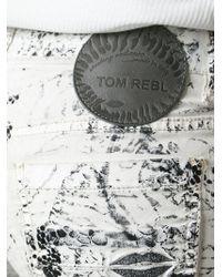 Tom Rebl - Snakeskin Print Jeans - Lyst