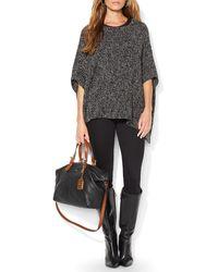 Ralph Lauren Lauren Marled Knit Poncho - Lyst