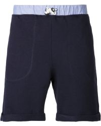 Band of Outsiders Contrasting Drawstring Waistband Shorts - Lyst
