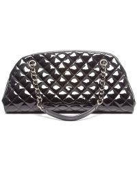 Chanel Preowned Patent Just Mademoiselle Bag - Lyst