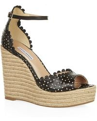 Tabitha Simmons Harp Perforated Wedges - Lyst