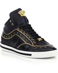 Versace First Jewel High-Top Sneakers black - Lyst