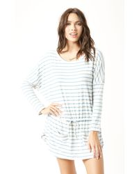 Eberjey Lounge Stripes Slouchy Tunic - Lyst