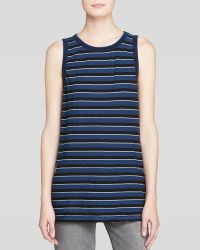 Current/Elliott Tee - The Muscle Striped - Lyst