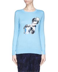 Markus Lupfer 'Flash Camera' Sequin Natalie Sweater - Lyst