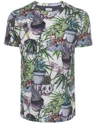 Paul Smith Plant And Deer Print T-Shirt - Lyst