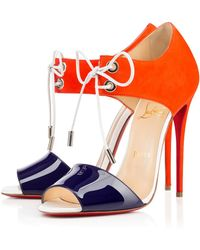 Christian Louboutin Mayerling Patent/Suede - Lyst