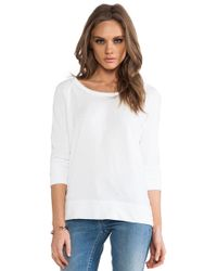 James Perse Vintage Cotton Raglan Pullover - Lyst