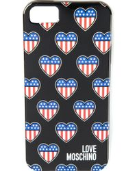 Love Moschino American Heart Iphone 5/5S Cover - Lyst