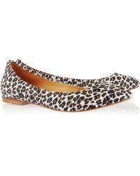 NDC - Irene Leopard-Print Nubuck Ballet Flats - Lyst