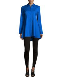Studio 148 By Lafayette 148 New York - Flared Long-sleeve High-low Blouse - Lyst