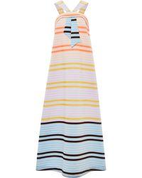 Suno Neon Stripe Faux Tie Maxi Dress - Lyst