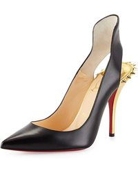 Christian Louboutin Survivita Leather Spike Red Sole Pump - Lyst
