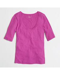 J.Crew  Scoop Neck Layering Tee - Lyst