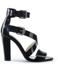 Ralph Lauren Collection Patent Kairo Sandal - Lyst