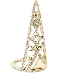 House Of Harlow Tres Tri Finger Ring - Lyst