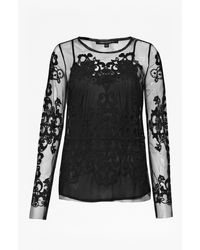 French connection Maddison Gardens Embellished Top - Lyst