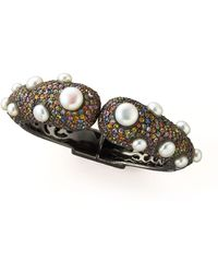M.c.l  Matthew Campbell Laurenza - Pave Tip Bangle with Pearls - Lyst