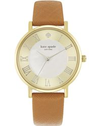 Kate Spade Metro Roman Numerals Grand Watch Gold - Lyst