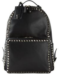 Valentino Black 'Rockstud' Backpack - Lyst
