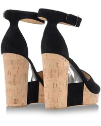 Ferragamo Black Sandals - Lyst