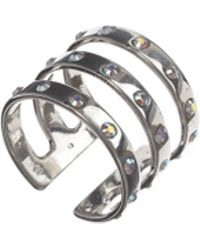Maria Francesca Pepe - Encrusted Triple Band Ring - Lyst
