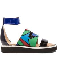 Nicholas Kirkwood X Peter Pilotto Leather Sandals - Lyst