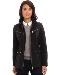 DKNY Zip Front Scuba Jacket W Nylon Combo Y4 - Lyst