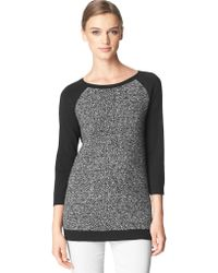 Calvin Klein Jeans Boucle Colorblock Raglan Sweater - Lyst