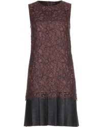Dolce & Gabbana Purple Lace Dress - Lyst