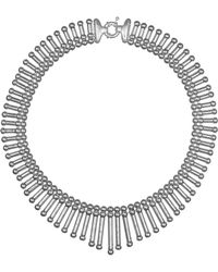 Giles & Brother Fringe Collar Necklace silver - Lyst