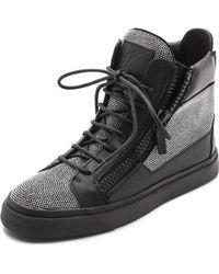 Giuseppe Zanotti Studded London Zip Sneakers  Black - Lyst