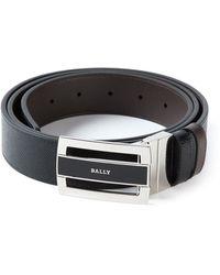 Bally Logo Buckle Belt - Lyst