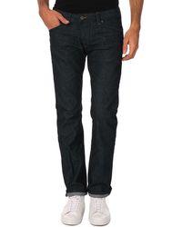 Diesel Darron Tapered Dark Denim Jeans - Lyst