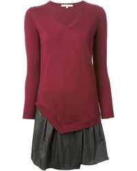 Carven Flared Sweater Dress - Lyst