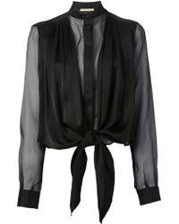 Christopher Kane Semi Sheer Blouse - Lyst