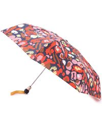 Marc By Marc Jacobs - Graffiti Leopard Umbrella - Ruby Red Multi - Lyst